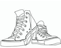 converse shoes drawing. converse shoes high tops coloring page drawing