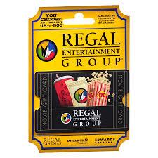 regal theaters non denominational gift card1 0 ea