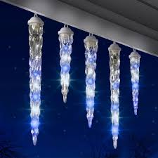 Ice Icicle Lights Hot Item Icy Blue White Shooting Star Varied Size Icicle Light