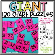 Giant Hundreds Chart 120 Chart Puzzles Worksheets Teaching Resources Tpt