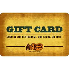 Maybe you would like to learn more about one of these? Cracker Barrel 25 Gift Card Walmart Com Walmart Com