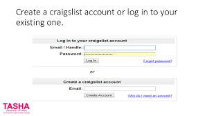 Create a craigslist account or log in to your existing one.