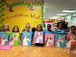 canvas kids party unicorn