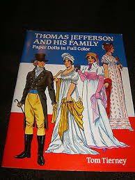 thomas jefferson family paper doll book 1992 16 pages uncut tom