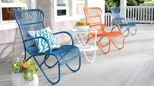 Vintage Metal Patio Chairs Image Of Colorful Vintage Metal Outdoor