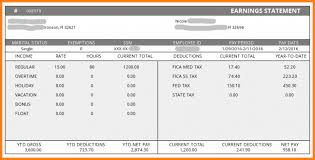 paystub sample 9 salary pay stub template simple salary slip