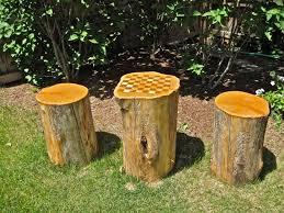 trunk table furniture. tree stump checker board table trunk furniture