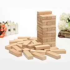 Wooden Brick Game Wooden Stacking Tumbling Tower Fun 100 Blocks Board Game Kids 16