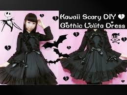 kawaii scary diy how to sew gothic dress curtain style front skirt easy you