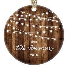 25th anniversary gifts 2018 dated twenty fifth anniversary married ornament for couple mr
