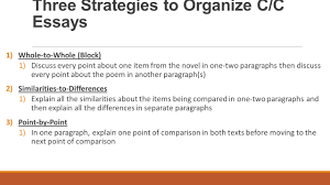compare contrast essay structure ppt video online three strategies to organize c c essays