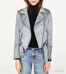 2019 2017 new spring women new suede leather jacket pink light blue suede coat las motor biker jackets from ly topfashion 45 23 dhgate com