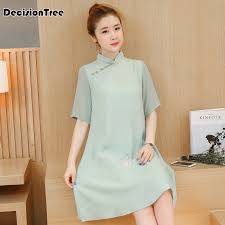 <b>2019</b> summer retro <b>traditional chinese clothing</b> oriental <b>dress</b> ...