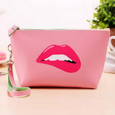 makeup ideas cute makeup pouch 2016 cute cartoon lips women leather makeup bag pouch cosmetic