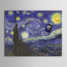 iarts printed oil painting oil brush van gogh night similr design oil painting on canvas unframed picture painting in painting calligraphy from home