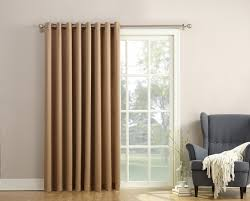 sun zero barrow energy efficient patio door curtain paneltaupe brown extra wide curtain panels o89
