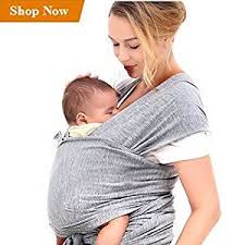 Amazon.com : Innoo Tech Baby Sling Carrier Natural Cotton Nursing ...