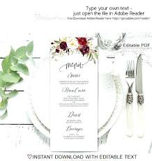 Wedding Menu Size Template Thank You Template 8 Shower Cards Design