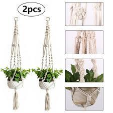 2pcs macrame plant hanger flower pot