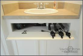 Tools Needed To Build Cabinets Remodelaholic Diy Under The Sink Hair Tool Storage
