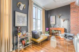 the brick condo furniture. Brick Is Next To A Rich Gray Wall With Subtle Painted Stencil. Small, The Condo Furniture T