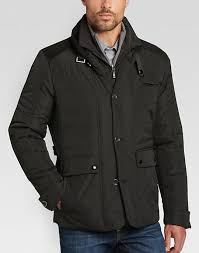 Pronto Uomo Black Modern Fit Quilted Jacket - Men's Casual Jackets ... & Pronto Uomo Black Modern Fit Quilted Jacket - Mens Casual Jackets,  Outerwear - Men's Wearhouse Adamdwight.com