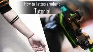 How To Tattoo Armband Tips And Tricks For Beginners Time Lapse Close Up