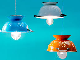 diy kitchen lighting ideas. 0-creative-lamp-ideas-DIY-hand-made-colander- Diy Kitchen Lighting Ideas N