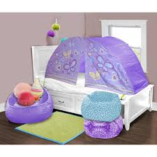 Toddler Tents For Beds Kids Scene Lavender Butterfly Play Bed Tent Walmartcom