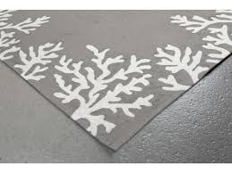 trans ocean rugs capri c border 2 x 8 rectangular silver runner rug