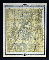 Details About 1875 Iowa Map Fort Madison Bloomfield Mechanicsville Van Buren County Keosauqua