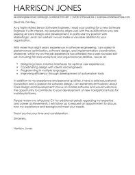 Cover Letter For Experienced Software Engineer Cover Letter Template Software Engineer 1 Cover Letter Template