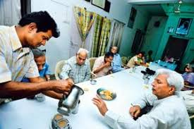 demographic explosion in the greying population livemint grey area residents of an old age home in the capital gather in the