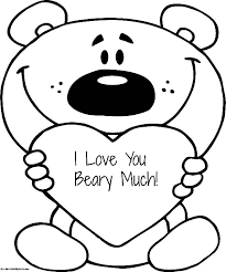 Small Picture I Love You Beary so Much Coloring Pages Batch Coloring