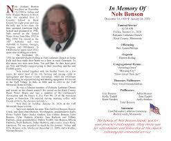 In Memory Of Nels Benson
