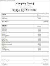 Profit And Loss Statement Simple Custom Printable Blank Profit And Loss Statement Business Mentor