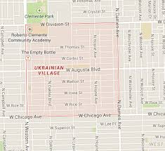 the ukrainian village is bordered by chicago avenue in the south division street to the north and western and damen avenue to the west and east