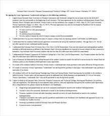 9 Apartment Lease Agreement Templates Word Pdf