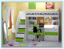 kids bunk beds with desk ikea