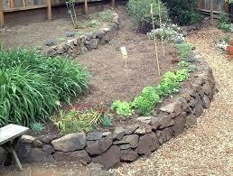 stone raised garden beds stone wall raised garden beds
