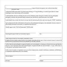 13 Dnr Medical Form Templates To Download For Free | Sample Templates