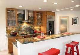 asian kitchen design.  Asian View In Gallery Colorful Granite Backsplash And Countertop Along With  Retrostyled Furnishings Make Up This Asian Kitchen Throughout Kitchen Design H