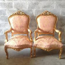light pink accent chair french antique xvi 1 available arm gold leaf reupholster blush q15