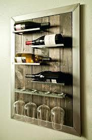 wall mounted wine rack and glass holder funny holders bottle 9 creative metal racks