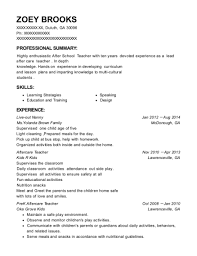 Pre K Teacher Resume Sample Best Of Best Prek Aftercare Teacher Resumes ResumeHelp