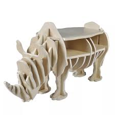 <b>Wooden Rhino Home Decor</b> Shelf Book Organizer Side Table ...