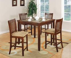 cherry counter height piece:  piece cherry marble like counter height dining table set