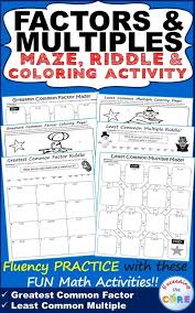 Factors And Multiples Worksheets - Criabooks : Criabooks