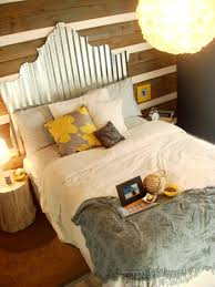 sumptuous queen headboards in bedroom eclectic with corrugated metal roof ideas next to green metal roof