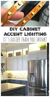 Cabinets With Lights On Top Diy Upper And Lower Cabinet Lighting Easy Home Decor Diy